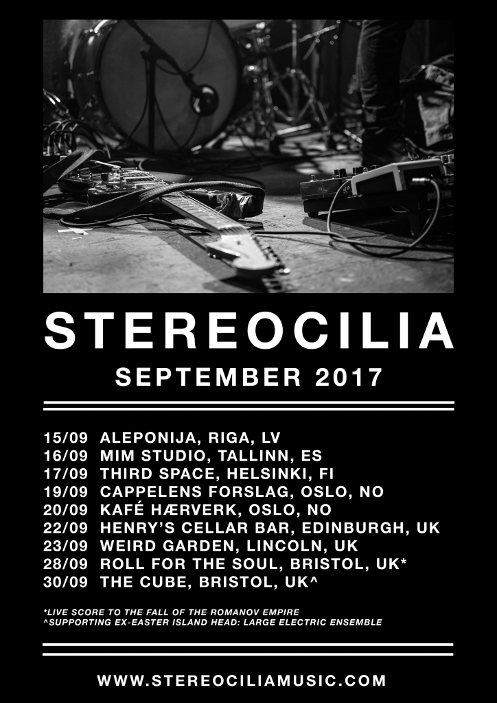 STEREOCILIA SUMMER TOUR POSTER