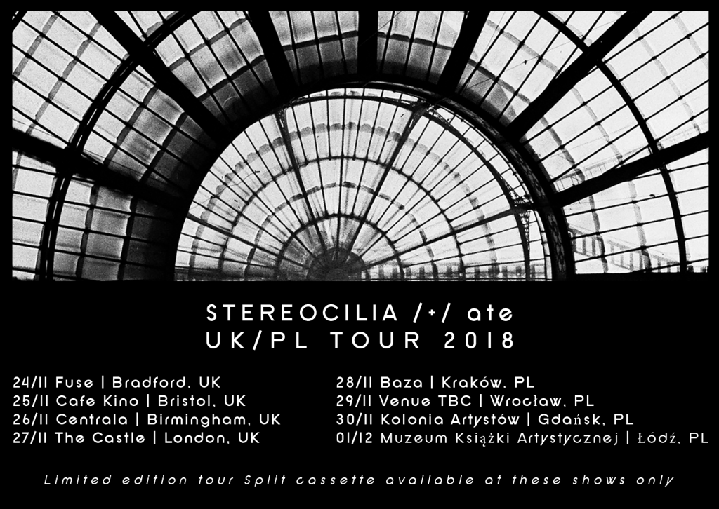 stereocilia ate tour poster